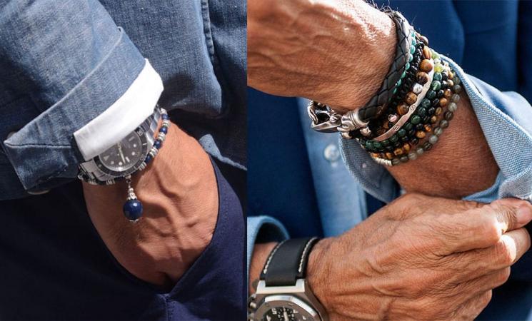 Men's Bracelets with a Wristwatch